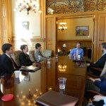Students' Advisory Committee members meet with Governor Brownback to advocate for higher learning